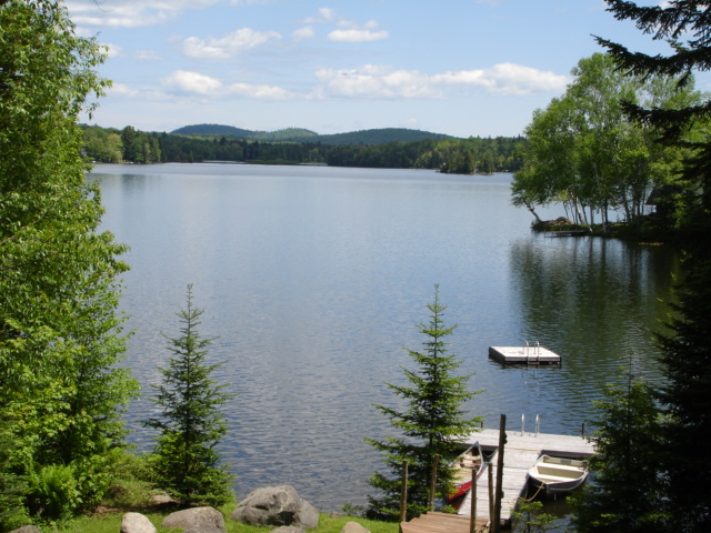 View of Adirondack Lake from the dock